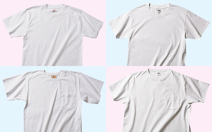 白無地Tシャツ人気4ブランド