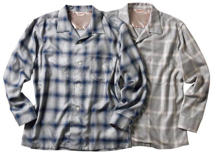 タウンクラフトの開衿シャツ