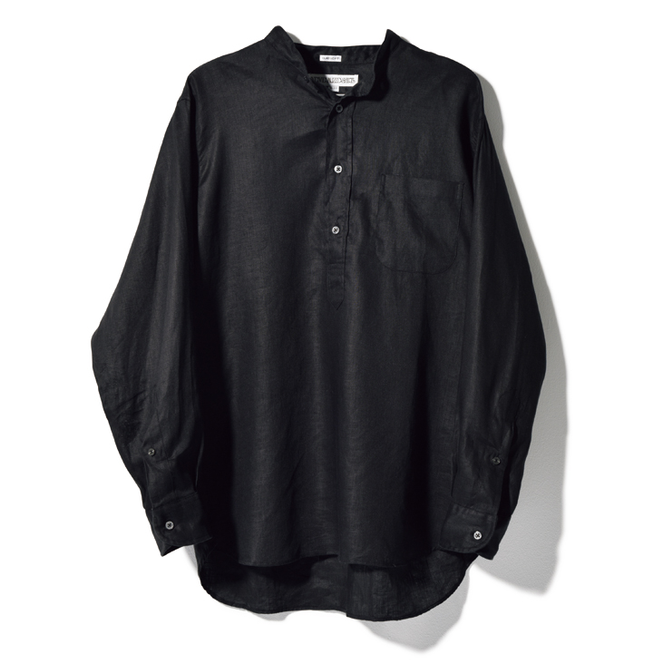 インディビジュアライズド シャツのバンドカラーシャツ