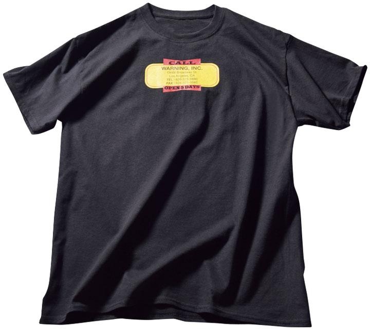 ワーニング カンパニー バイチェイス・ストップニックのコーポレートTシャツ