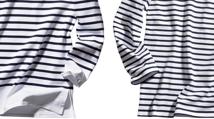 「裾」を比較。右/ウェッソン 左/ナヴァル