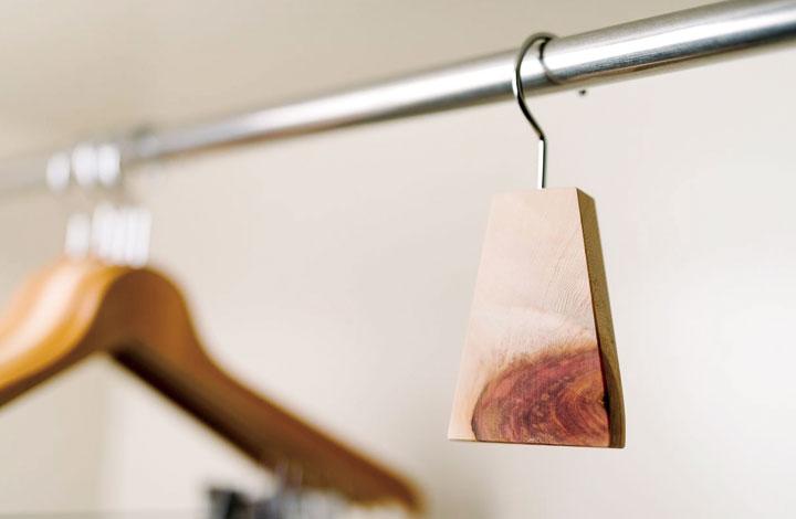クロゼットに掛けるだけで愛用の洋服を菌から守ります