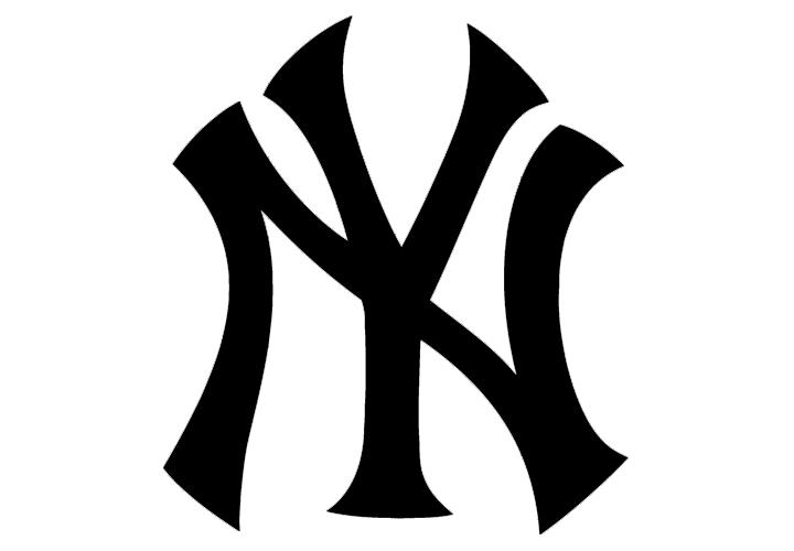 """ニューヨーク・ヤンキースの""""NY""""ロゴ"""
