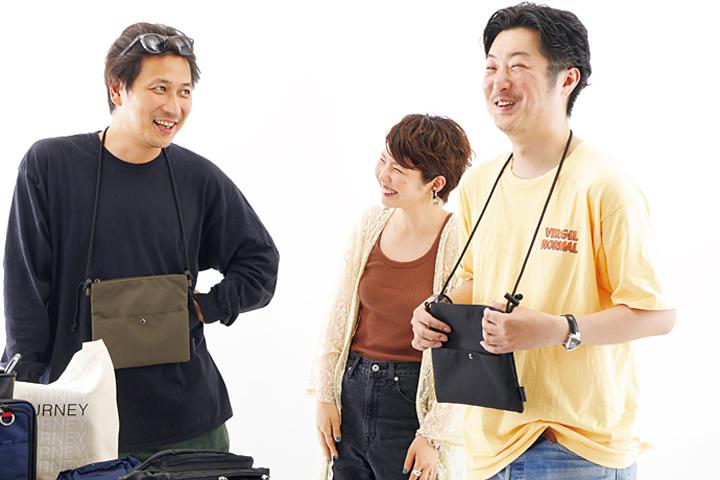 検証する武内さん、桐田さん、ヒラノ