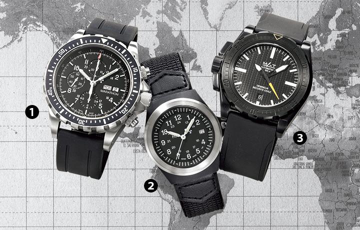 マラソン、トレーサー、マットウォッチズの腕時計