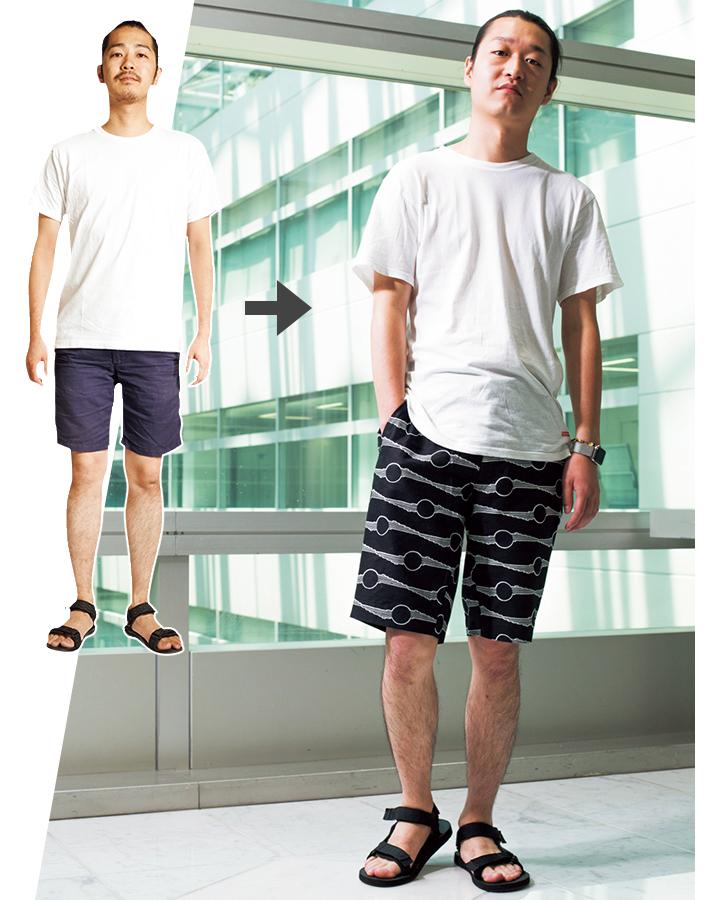 クラウディのショートパンツモデル着用画像
