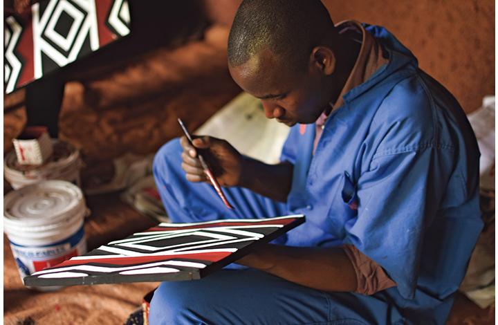 ルワンダのイミゴンゴ制作画像