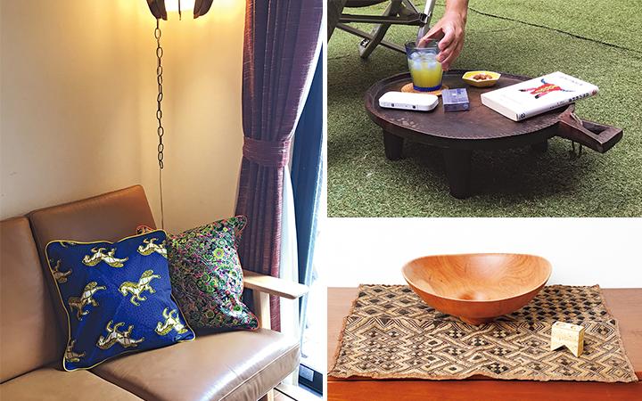 アフリカ家具使用イメージ