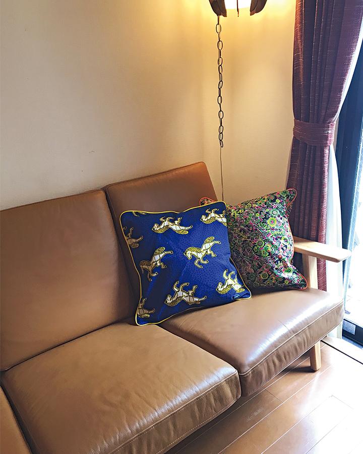 黒澤さんのアフリカ家具使用画像