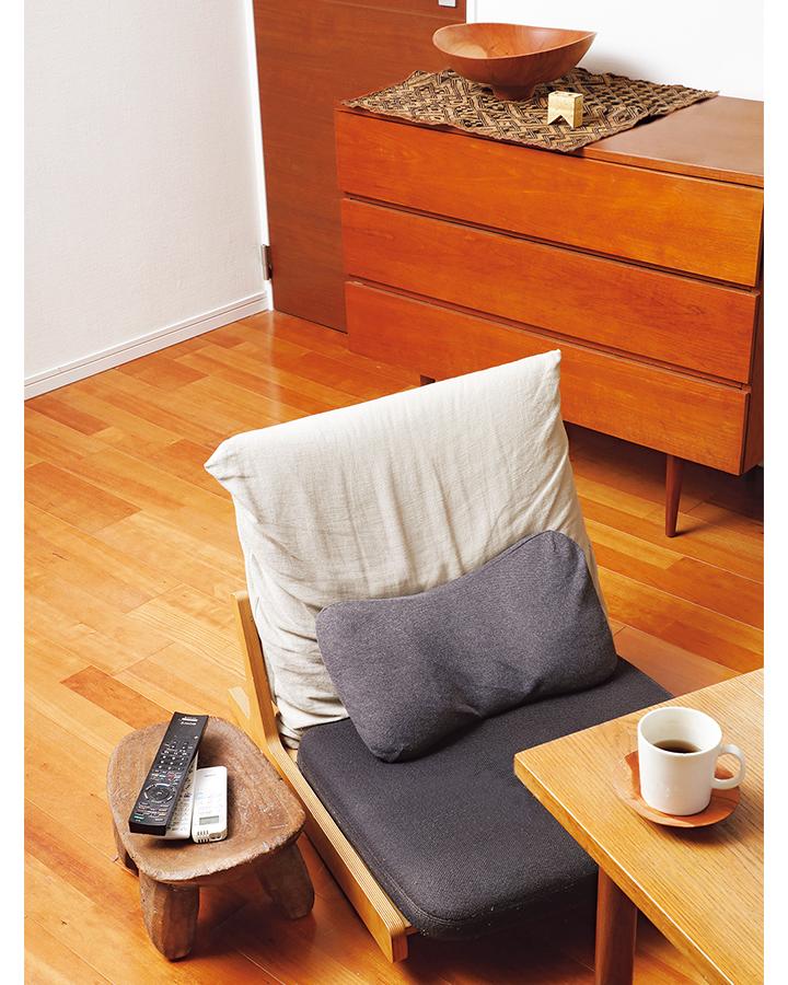 岡本さんのアフリカ家具使用画像