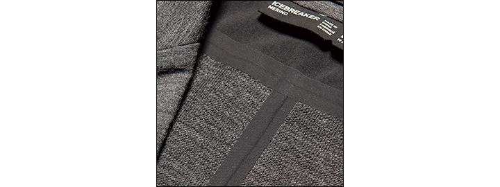 アイスブレーカーのテック メリノ ブレザー&スラックス縫製部拡大画像