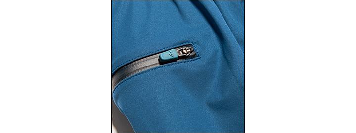 デサント ポーズのパッカブルジャケット&パンツジップ拡大画像