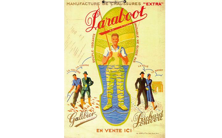 パラブーツ'40~'50年代の広告画像