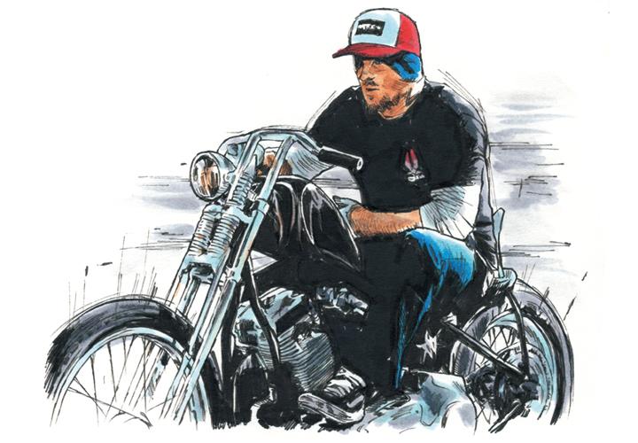 バイク好きのスケータージェイソン・ジェシー