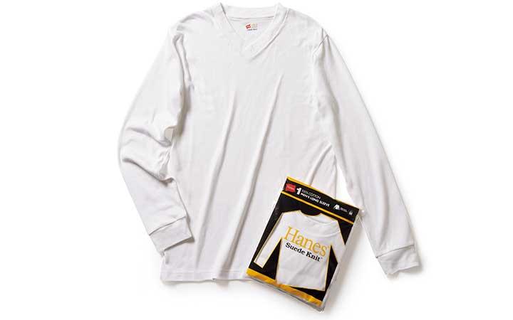 HANESのロングTシャツ画像