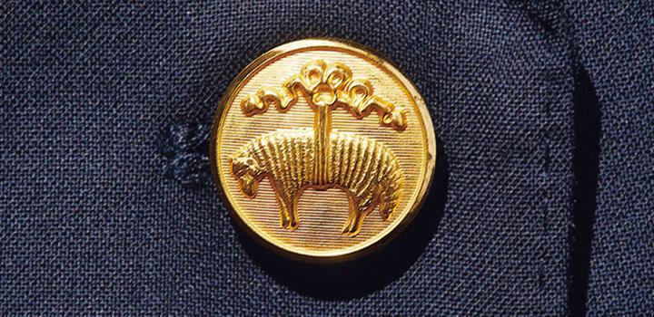 ブルックス ブラザーズ ダブルブレザー リージェントの金ボタン画像