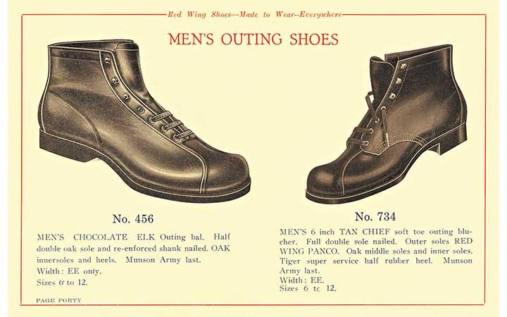 レッド・ウィング 1920s アウティング ブーツの20年代イラスト