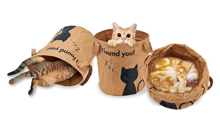 マルカンのにゃんこのシャカシャカペーパーバッグ ツンツン猫用