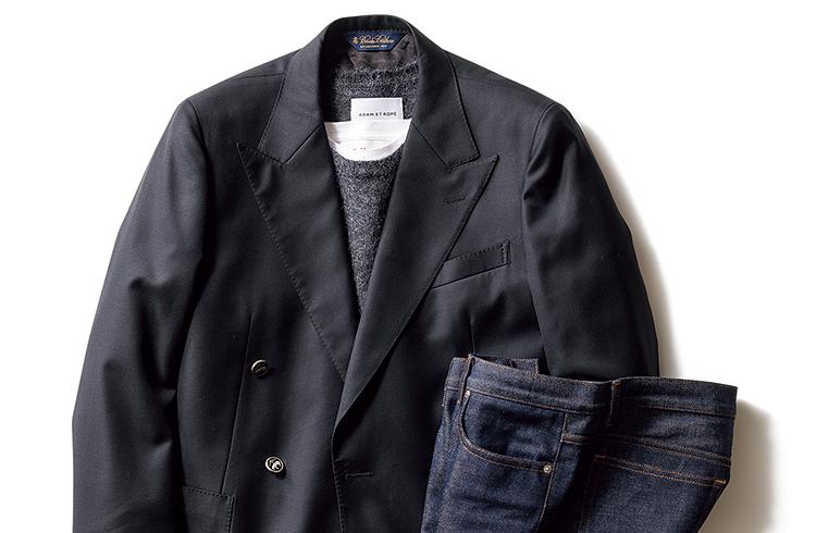 """ジャケット×デニムのコーディネートは""""力の抜けた上品""""がキモです"""