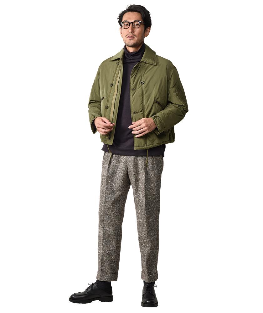 キャプテン サンシャイン×バズリクソンズ×ジャーナル スタンダードのMK3ジャケット モデル着用