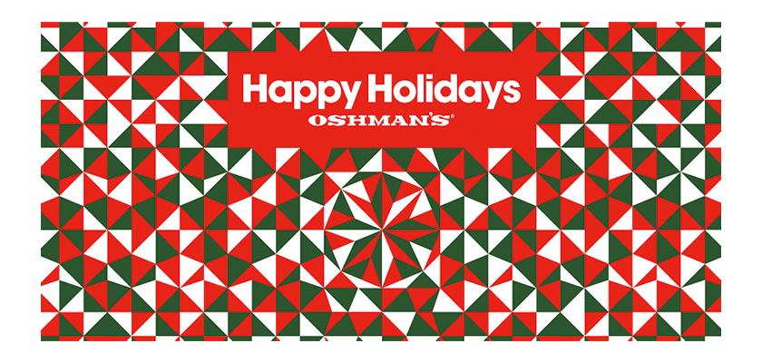 クリスマス・ギフトフェアをオッシュマンズ全店で開催