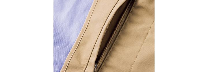 ナナミカのゴアテックスステンカラーコート内側ポケット画像