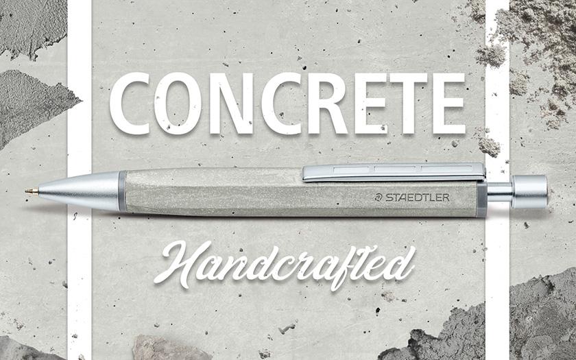 ステッドラーのコンクリート ボールペン ビジュアル