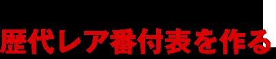 2016年8月号 歴代レア番付表を作る