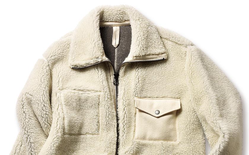 ナイジェル・ケーボンのパイルジャケット アップ