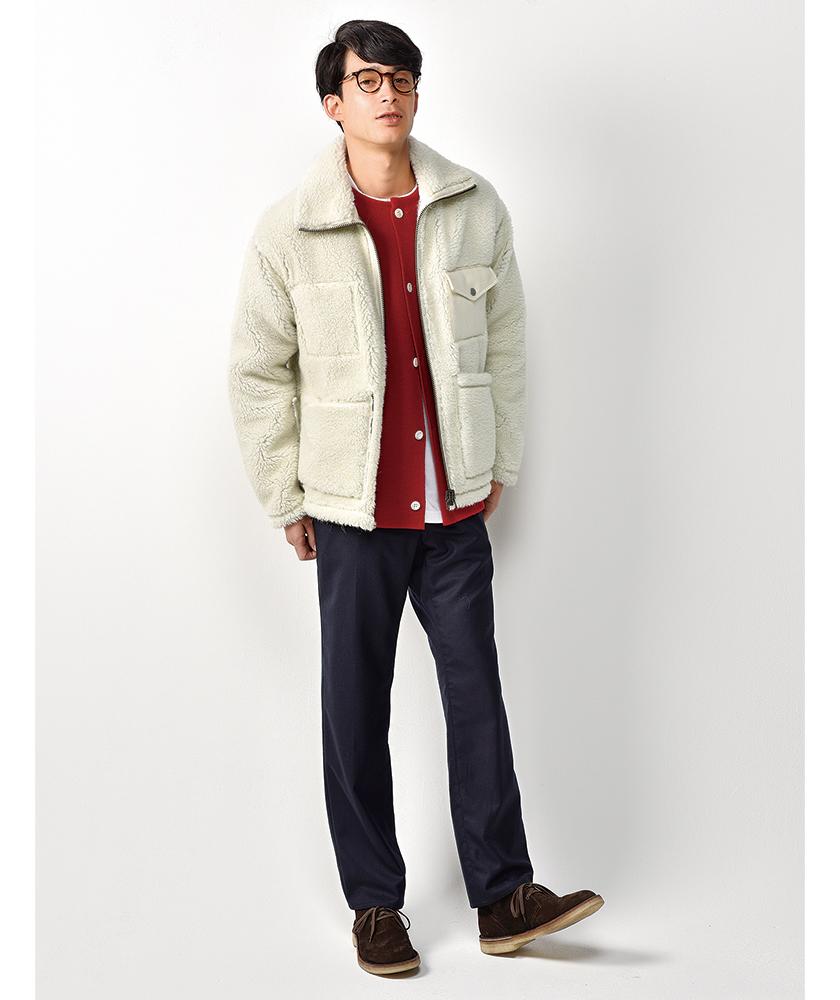 ナイジェル・ケーボンのパイルジャケット モデル着用