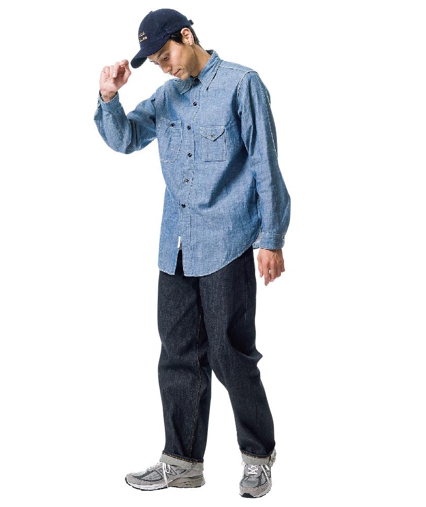 アナトミカ バイ ビッグヤンクのシャツ×オアスロウの101ダッドジーンズ