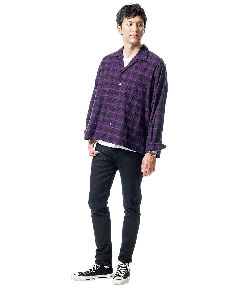 インディビジュアライズド シャツのシャツ×ヒステリックグラマーのSデニム スリムパンツ
