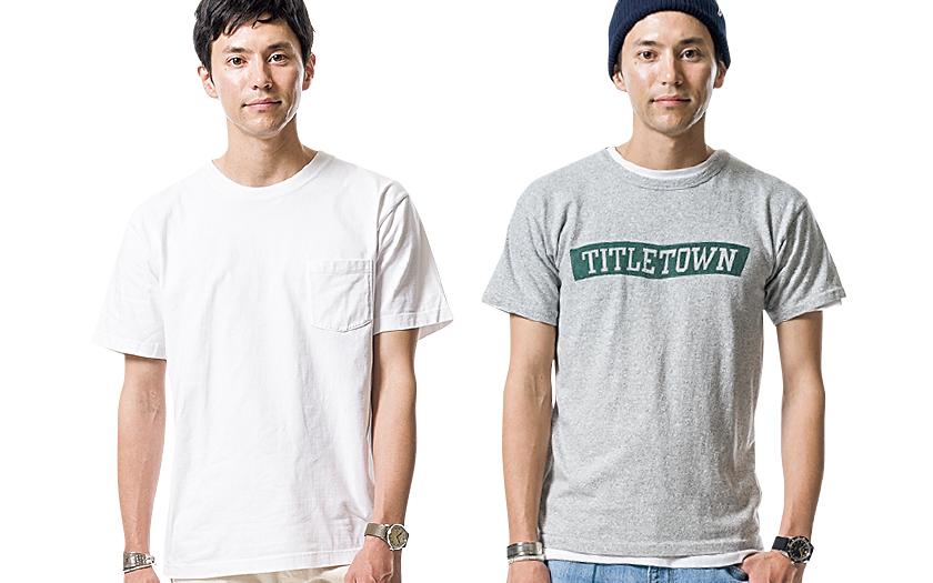 半袖Tシャツ×デニム
