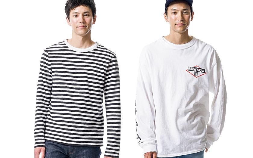 長袖Tシャツ×デニム