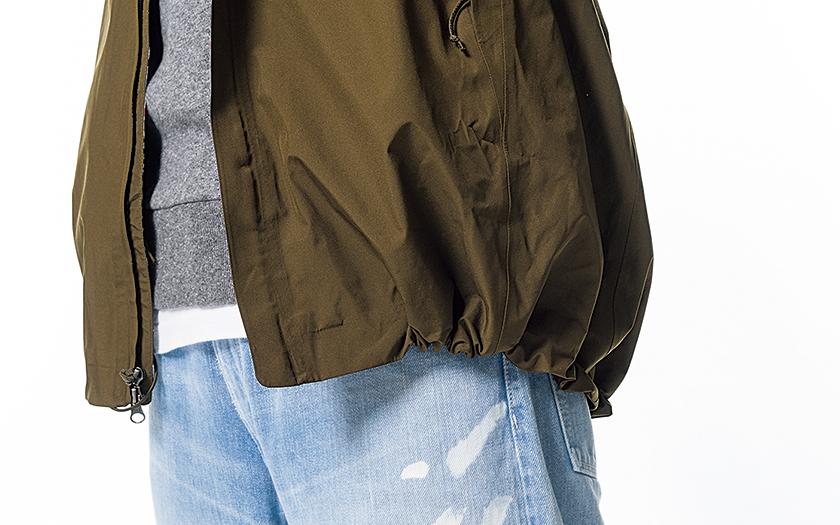 シェル裾のドローコードはお洒落ニュアンスUPに効果大!