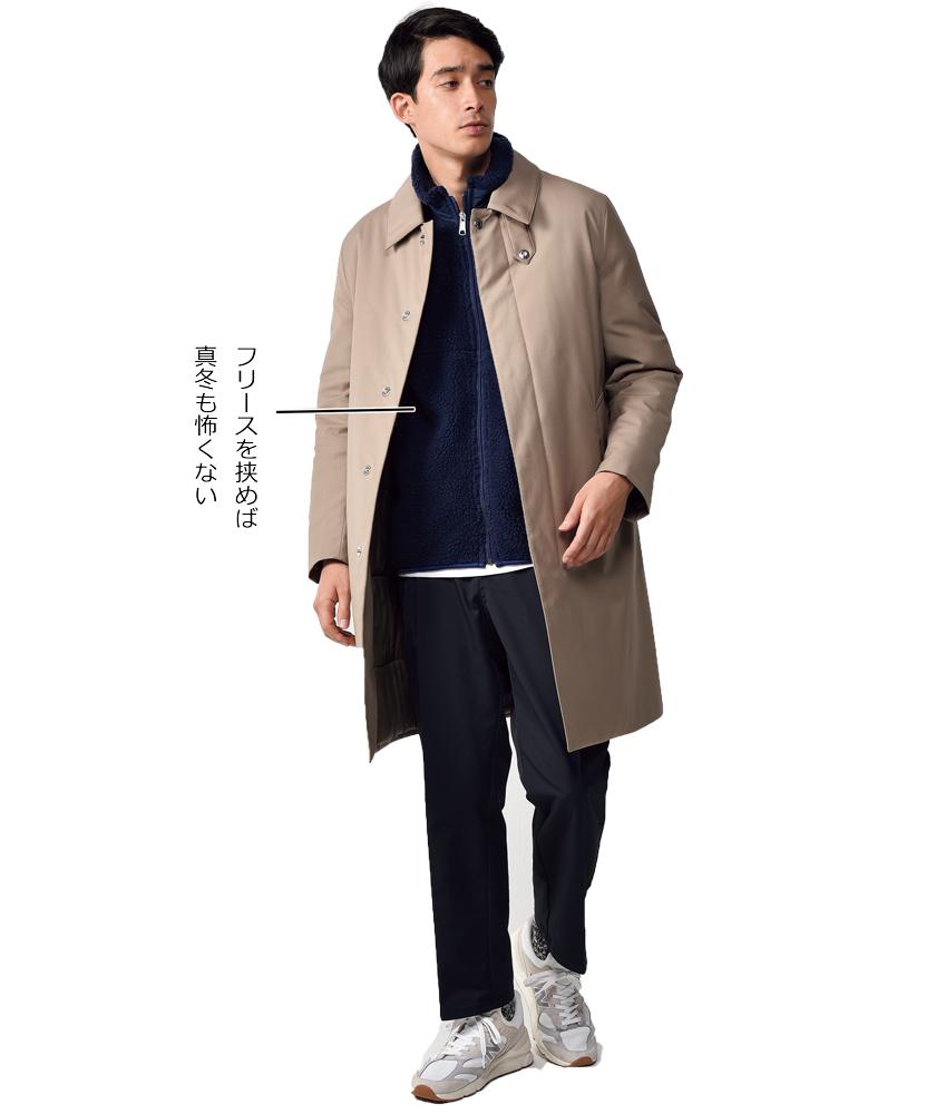 マッキントッ シュのダウンコート モデル着用