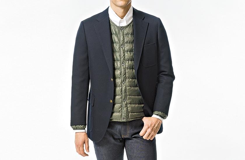 モンベルのダウン シャツ×ジャケットだけだとちょっとフツーすぎ!?
