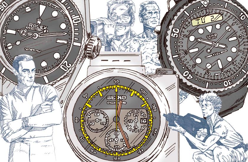 いやぁ、時計ってホントいいもんですね~♡ スクリーン向こうのアンティーク腕時計用語