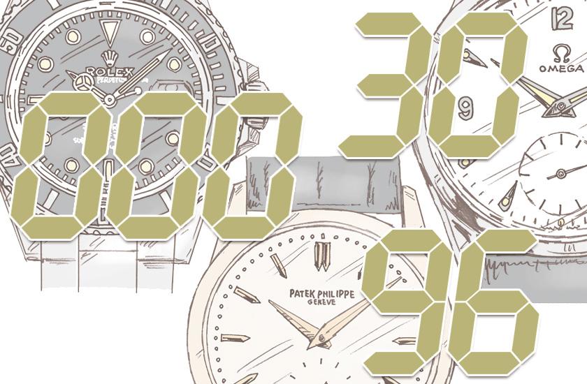 時計に精通する者こそ、数字で語る。アンティーク腕時計の用語