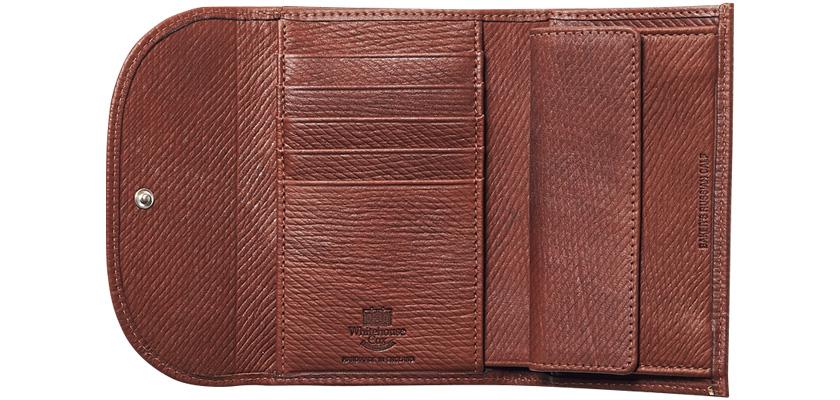 WHITEHOUSE COX ホワイトハウスコックスのベイカーズ・ロシアンカーフシリーズ 3つ折り財布