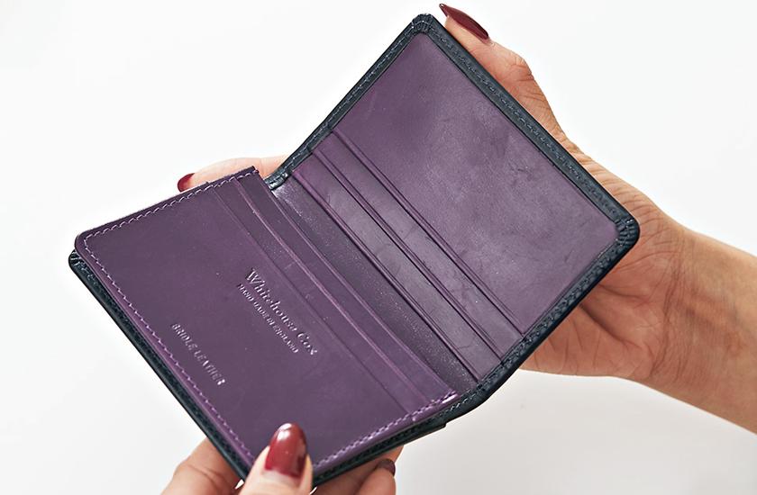 ホワイトハウスコックス 2018ホリデーラインカラーガゼッテッドカードケース 商品内部画像
