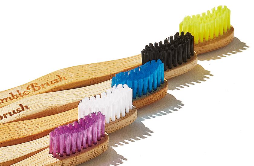 ハンブル ブラッシュの歯ブラシ ブラシは生分解性の高いナイロン6