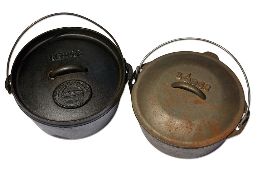 ブラックポット化したダッチオーブン写真