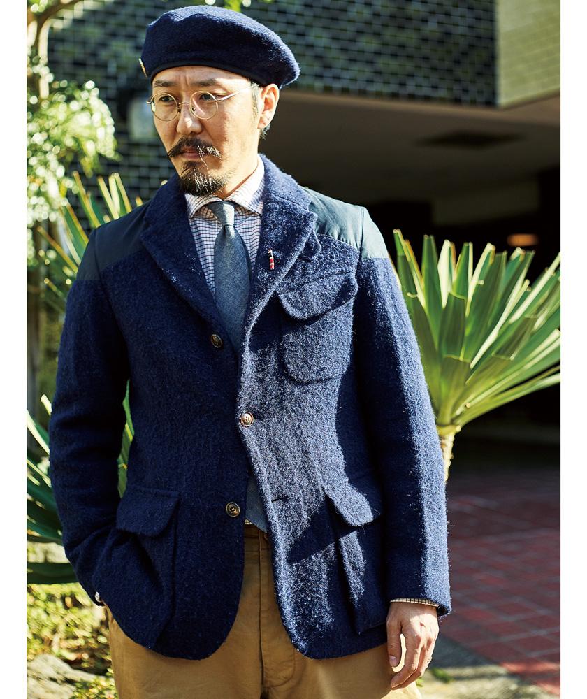 6年着込んだナイジェル・ケーボンのマロリージャケット。風合いが増して体にしなやかに馴染んでくる。