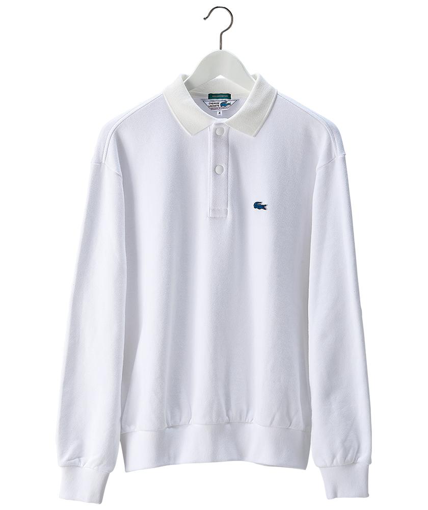 ラコステ×シップスのロングスリーブポロシャツ