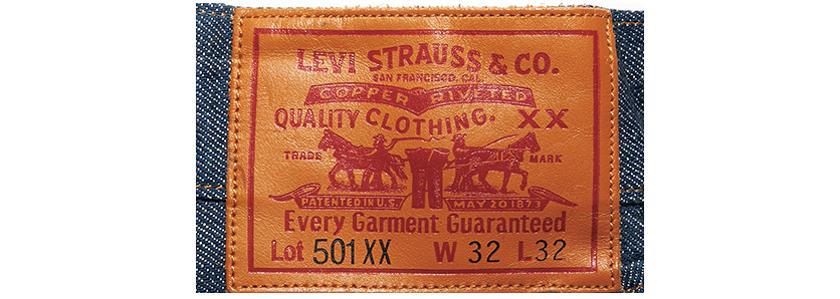 リーバイス 501XX 1890年モデル ロゴ写真