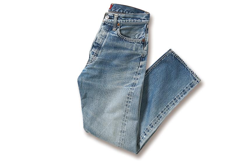 3年穿いて色落ちしたジーンズ写真
