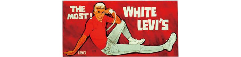 ホワイトデニム リーバイスポスター写真