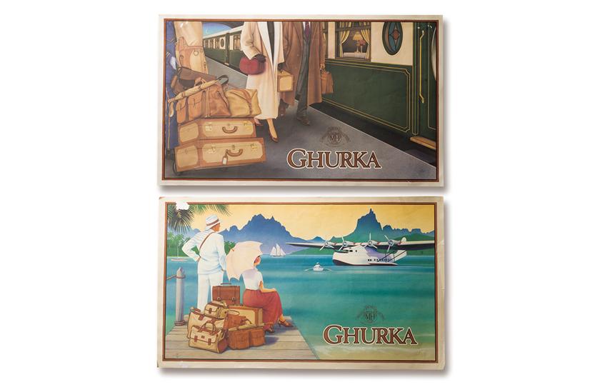 GHURKA グルカ の広告や店頭ポスター