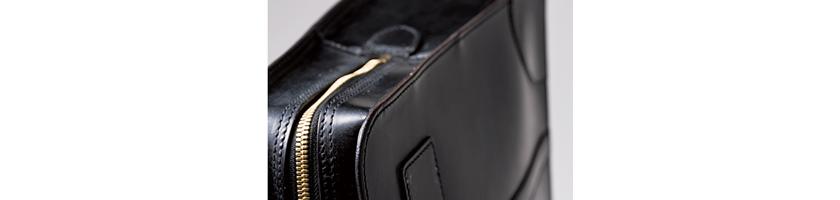 GANZO ガンゾのブライドル ブリーフケース 商品詳細部分拡大写真